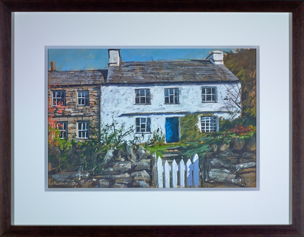 Farmhouse in Borrowdale, Lake District by james bartholomew -  sized 24x16 inches. Available from Whitewall Galleries